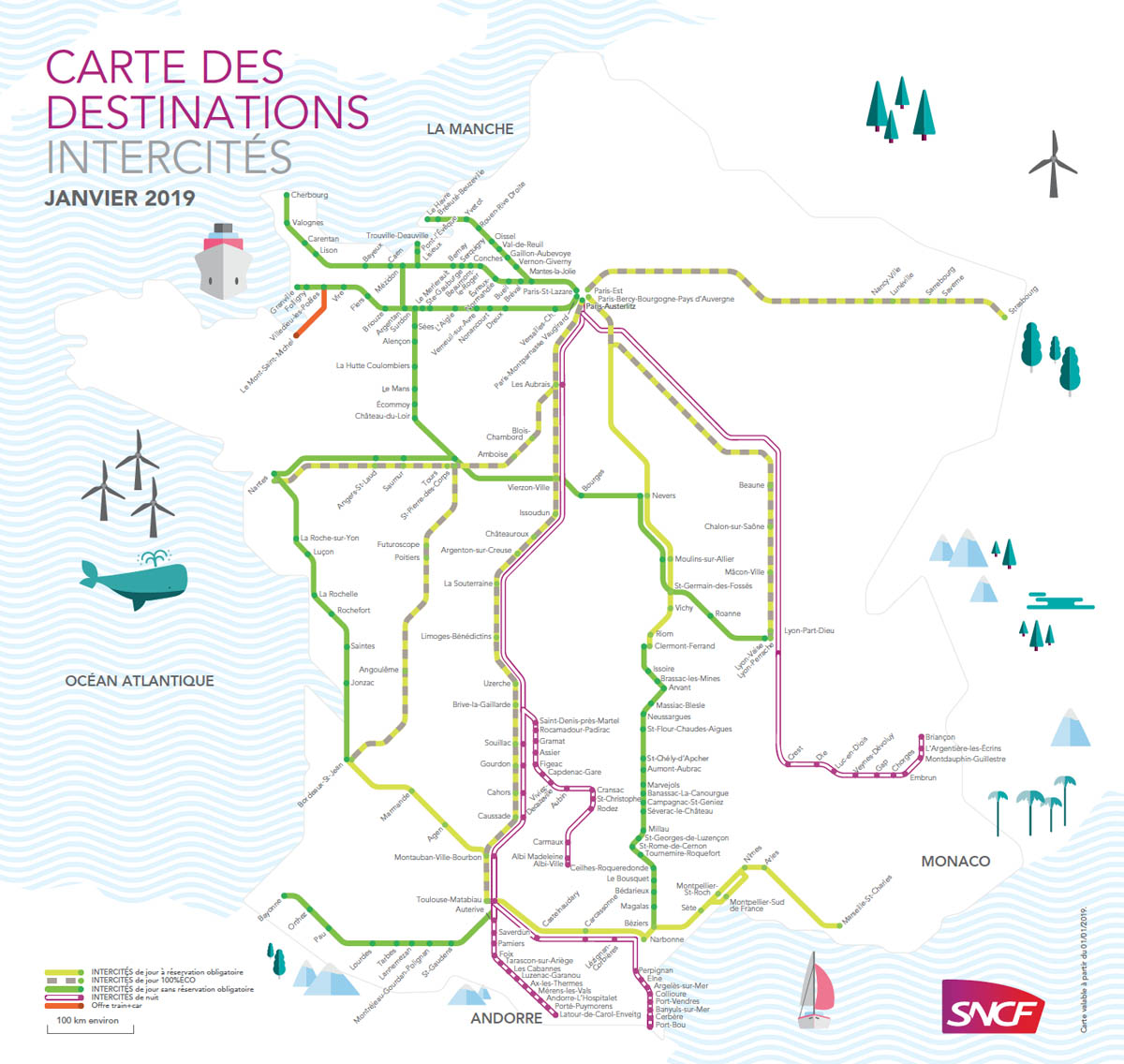 mapa intercites francia
